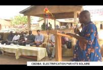Cérémonie d'électrification par kits solaire